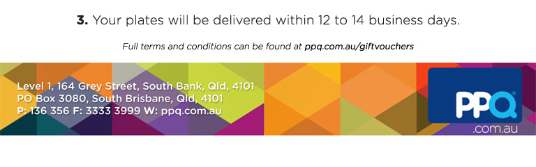 Full terms and conditions can be found at ppq.com.au/giftvouchers