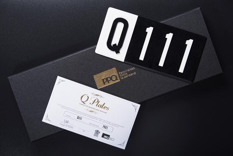 Q Plates - A Piece of Queensland History. Delivered with a Certificate of Authenticity