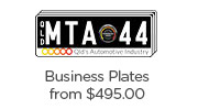 Looking to created branded plates for your business? Business Plates from $495