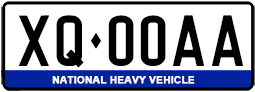 National Heavy Vehicle Plate Example