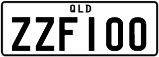 Monochrome plate with black writing on a white background. The combination reads Z Z F 1 0 0.
